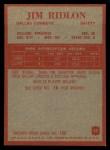 1965 Philadelphia #54   Jim Ridlon Back Thumbnail
