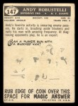 1959 Topps #147  Andy Robustelli  Back Thumbnail