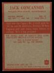 1965 Philadelphia #131  Jack Concannon   Back Thumbnail