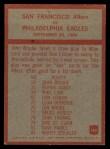 1965 Philadelphia #182   Jack Christiansen Back Thumbnail