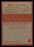 1965 Philadelphia #33   Bill Glass  Back Thumbnail