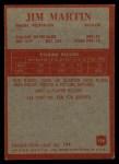 1965 Philadelphia #190   Jim Martin  Back Thumbnail