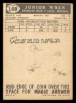 1959 Topps #169   Junior Wren Back Thumbnail