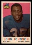 1959 Topps #44   John Henry Johnson Front Thumbnail