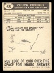 1959 Topps #65  Chuck Conerly  Back Thumbnail