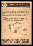 1959 Topps #73  Harley Sewell  Back Thumbnail
