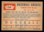 1960 Fleer #39   Bing Miller Back Thumbnail