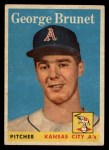1958 Topps #139   George Brunet Front Thumbnail