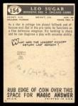 1959 Topps #154  Leo Sugar  Back Thumbnail
