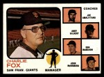 1973 Topps #252 ORG Giants Field Leaders  -  Charlie Fox / Joe Amalfitano / Andy Gilbert / Don McMahon / John McNamara Front Thumbnail