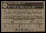1952 Topps #66 BLK Preacher Roe  Back Thumbnail