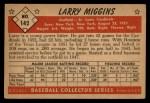 1953 Bowman #142  Larry Miggins  Back Thumbnail