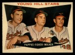 1960 Topps #399  Young Hill Stars  -  Milt Pappas / Jack Fisher / Jerry Walker Front Thumbnail