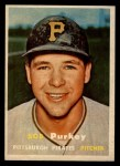 1957 Topps #368   Bob Purkey Front Thumbnail