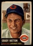 1953 Topps #45   Grady Hatton Front Thumbnail