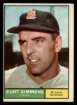 1961 Topps #11 ERR  Curt Simmons Front Thumbnail