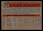 1957 Topps #369   Milt Graff Back Thumbnail