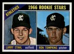 1966 Topps #107   -  Larry Stahl / Ron Tompkins A's Rookies Front Thumbnail