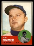 1963 Topps #439 B Don Zimmer  Front Thumbnail