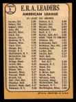 1968 Topps #8  1967 AL ERA Leaders  -  Joe Horlen / Gary Peters / Sonny Siebert Back Thumbnail