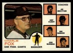 1973 Topps #252 ORG Giants Leaders  -  Charlie Fox / Joe Amalfitano / Andy Gilbert / Don McMahon / John McNamara Front Thumbnail