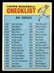 1966 Topps #444 COR Checklist 6  Front Thumbnail