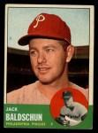 1963 Topps #341 ERR Jack Baldschun  Front Thumbnail