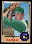 1968 Topps #458   Lew Krausse Front Thumbnail