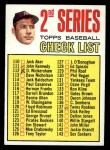 1967 Topps #103 A Checklist 2  -  Mickey Mantle Front Thumbnail