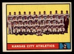 1961 Topps #297   Athletics Team Front Thumbnail