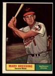 1961 Topps #321   Marv Breeding Front Thumbnail