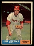 1961 Topps #341  Jim Owens  Front Thumbnail