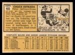 1963 Topps #465   Chuck Estrada Back Thumbnail