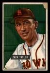 1951 Bowman #315  Zack Taylor  Front Thumbnail