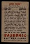 1951 Bowman #71   Jerry Priddy Back Thumbnail