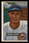 1951 Bowman #318   Warren Hacker Front Thumbnail
