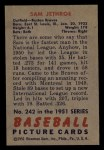 1951 Bowman #242   Sam Jethroe Back Thumbnail