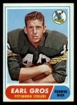 1968 Topps #7   Earl Gros Front Thumbnail