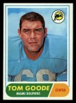 1968 Topps #92   Tom Goode Front Thumbnail