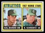 1967 Topps #33  Athletics Rookies  -  Sal Bando / Randy Schwartz Front Thumbnail