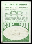 1968 Topps #120  Sid Blanks  Back Thumbnail