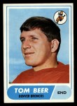 1968 Topps #42   Tom Beer Front Thumbnail