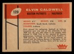 1960 Fleer #120   Elvin Caldwell Back Thumbnail