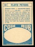 1968 Topps #188   Floyd Peters Back Thumbnail