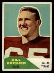 1960 Fleer #53   Bill Krisher Front Thumbnail