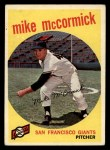 1959 Topps #148   Mike McCormick Front Thumbnail