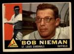 1960 Topps #149   Bob Nieman Front Thumbnail