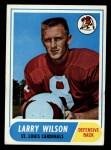 1968 Topps #164   Larry Wilson Front Thumbnail