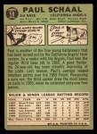 1967 Topps #58 COR  Paul Schaal Back Thumbnail