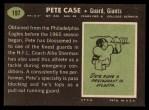 1969 Topps #197   Pete Case Back Thumbnail